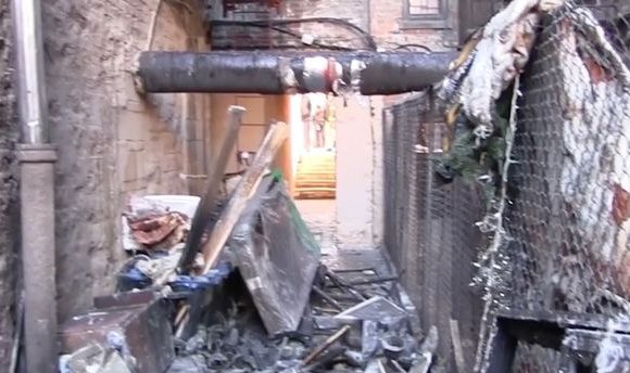 Inside the gutted New York apartment building after deadly fire