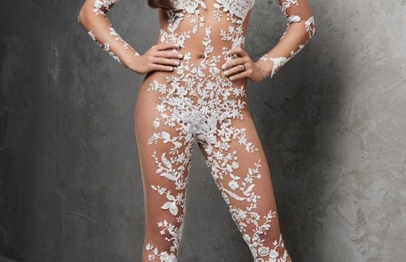 Is the sheer bridal lace jumpsuit the next big wedding trend